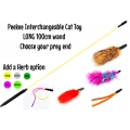 Purrs Peekee Interchangeable Long Teaser Cat Toy Set