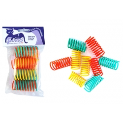 Purrs Flingie Springies - Colourful Springs Cat Toy - WIDE -9 Pack