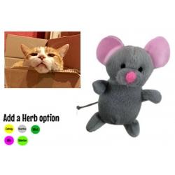 Marley Mouse Plush Cat Toy -  Silvervine, Mint, Valerian, Catnip, PowerMix