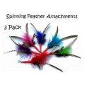 Purrs Feather Spinner Attachment - 3 set - Fits the PurrSuit, Frenzy & DaBird wands