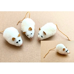 Purrs White Mo Mouse ClipOn - Fits PurrSuit , Frenzy & DaBird Rods